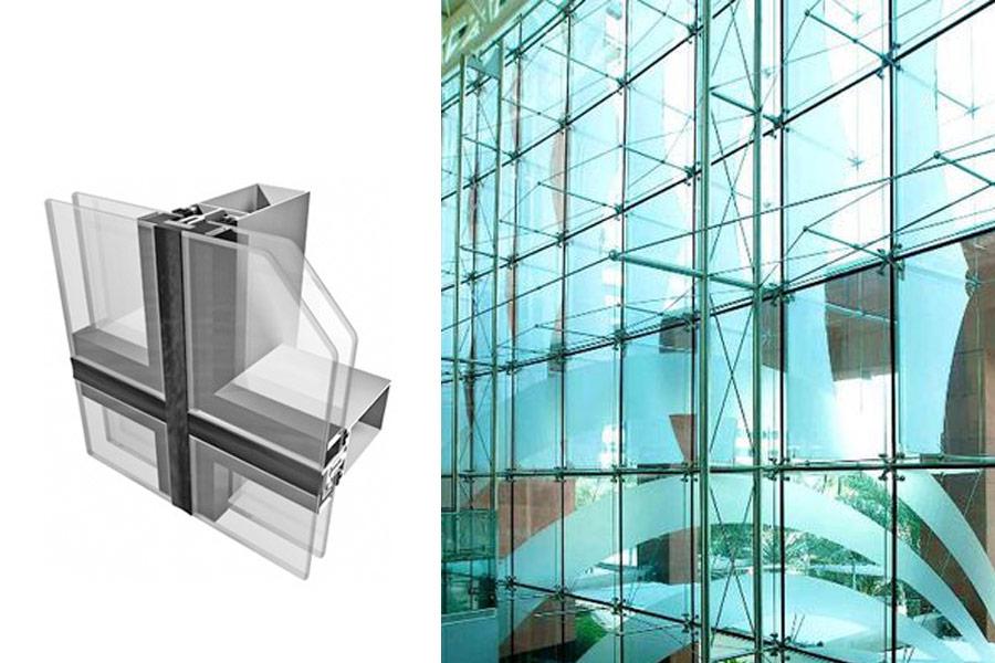 Vách mặt dựng hệ Sem i- Nhà thầu thi công nhôm kính Toàn Cầu Invest