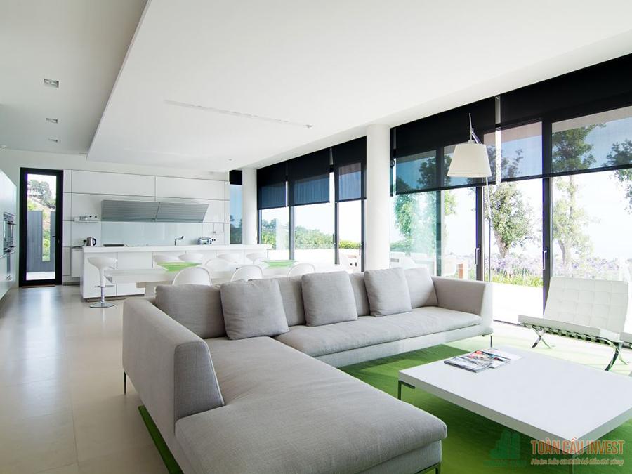 Cửa nhôm kính Xingfa - Phòng khách trang trọng