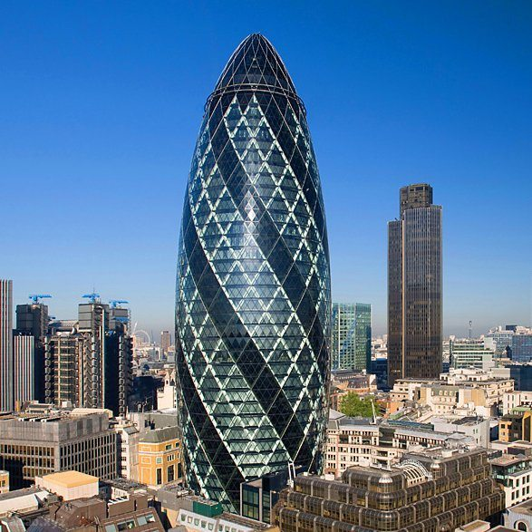 30 St Mary Axe, London, UK (2003)